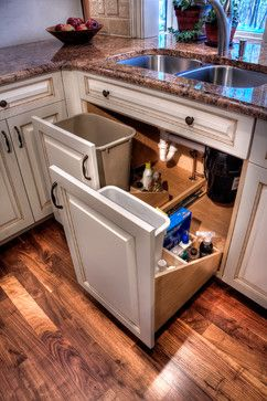 Where do you keep your kitchen garbage receptacle?