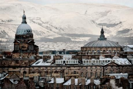 The buildings of Edinburgh University dominate in this city view of Edinburgh, 2009. The snow and freezing weather have made travel across the United Kingdom difficult over the festive period.  Your View/Steven Scott Taylor    I was so worried about getting back home for Christmas! I love snowy Edinburgh.