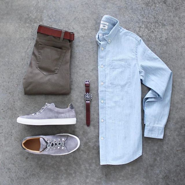 Follow @inisikpe for daily style #suitgrid to be featured  _____________ #SuitGrid by @awalker4715 _____________ Tap For Brands #inisikpe Shirt: @oldnavy Trousers: @forever21men Belt: @americannativegoods Shoes: @koiocollective Watch: @omega Watch Strap: @shop_wornandwound  Do you love this look? Like& Comment below