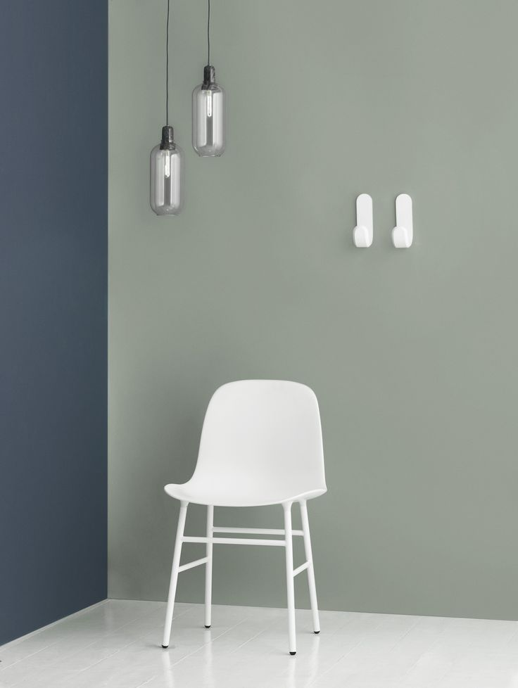 Create a contrast with a white Form chair   Amp Lamps   Curve Hooks