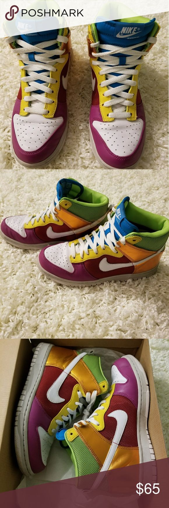 Women's Nike Dunk Hi Premium Multi color Nike dunks Nike Shoes Sneakers