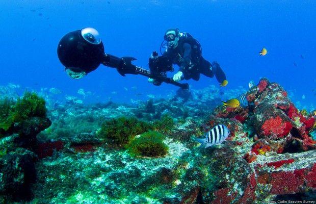 O Google está mapeando os oceanos e Fernando de Noronha é o ponto de partida no Brasil: já foram filmados 6 km embaixo d'água, incluindo a reserva ecológica de Atol das Rocas. Saiba mais, veja fotos e um vídeo fantástico no G1.