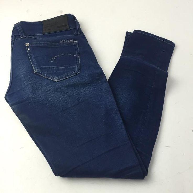 G-Star Raw Denim, Jeans, Strl: 25/32, Blå, Skick: Normalt