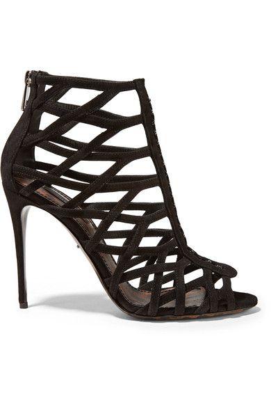 Dolce & Gabbana - Keira Suede Sandals - Black