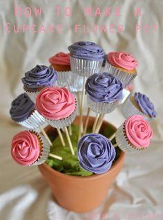 Cupcake Bouquet de Fleurs