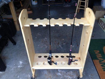 Rolling fishing rod holder