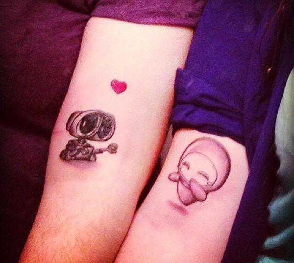 Cute couple matching tattoos tumblr for Cute couples tattoos