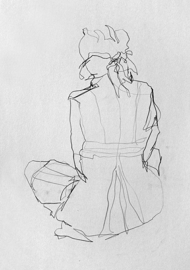 David Hewitt - Life Drawing - Original Artwork. Love contour drawings