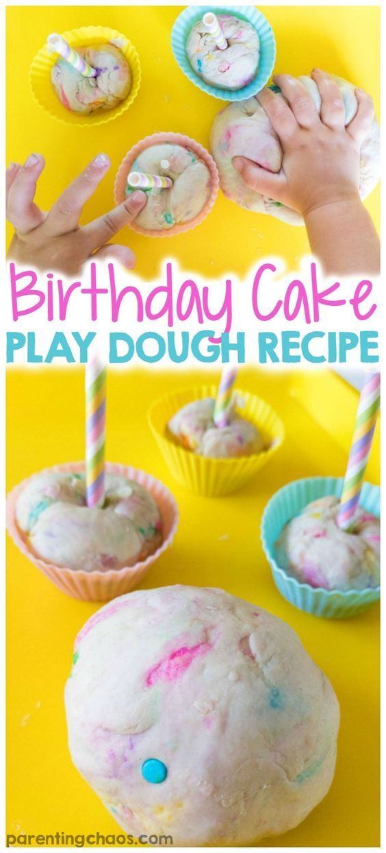 Birthday Cake Play Dough Recipe