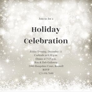 ideas for christmas invitations