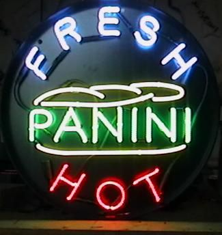 Panini neon sign from our trademark round series, will attract the hungry lunchtime crowd to your deli.
