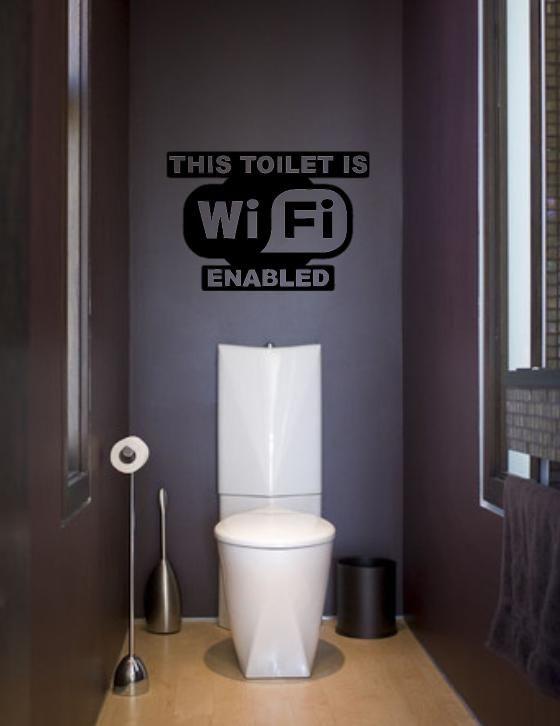 Wifi Toilet Vinyl Wall Sticker