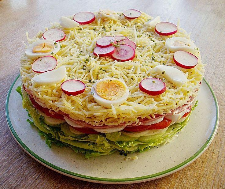 beste rezept salattorte low carb lchf paleo pinterest salattorte gute rezepte und. Black Bedroom Furniture Sets. Home Design Ideas