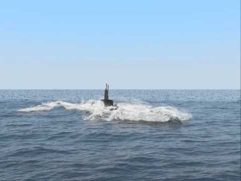 Submarine surfacing - Phoenix FD for 3ds Max - YouTube