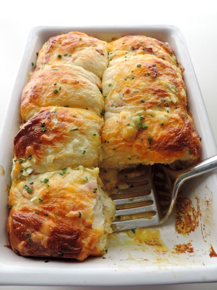 Easy Ham Egg and Cheese Biscuit Bake