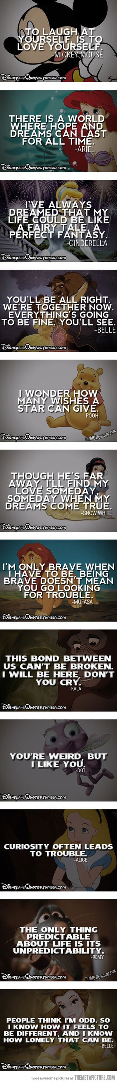 Disney Character Quotes II How characters are used to represent ideals and beliefs of the maker in movies~