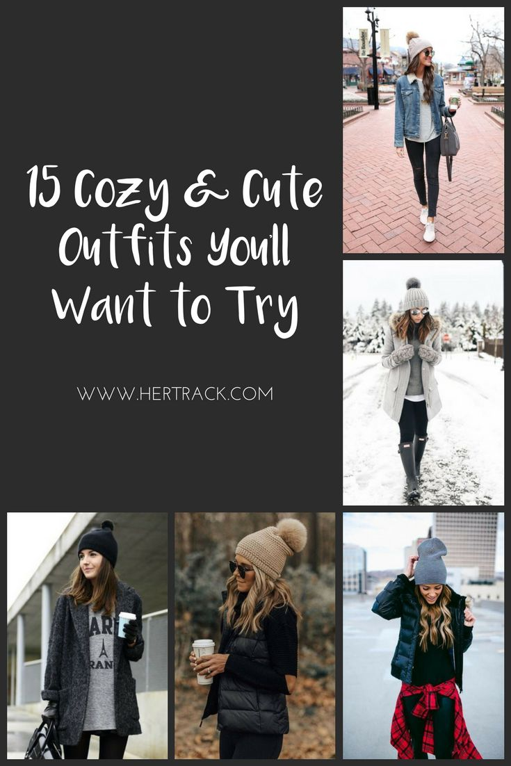 15 Cozy and Cute Winter Outfits You'll Love to Try. #winterfashion #winteroutfits Winter Style. Winter Outfit Ideas. Cute Winter Outfit Ideas.
