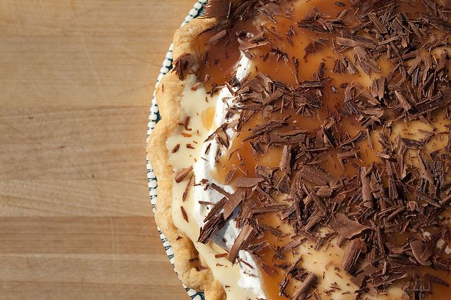 Banana Cream Pie with Bourbon Caramel Sauce, adapted from Tartine ...