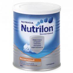 Нутрилон Безлактозный смесь сухая молочная для детей 400г  — 993р.  Сухая лечебная смесь для детей с рождения   Смесь Nutrilon Безлактозный - специальная смесь на основе молочного белка-казеина для диетического питания для детей с непереносимостью лактозы.     Лактоза - это углевод, который содержится в грудном молоке и добавляется в стандартную молочную смесь. В составе сухой смеси Nutrilon Безлактозный лактоза замещена на легко усвояемый компонент - глюкозный сироп. Непереносимость лактозы…
