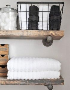 Ashley McLeod_Cherished Bliss_Industrial Farmhouse Bathroom Shelves BHGLiveBetter