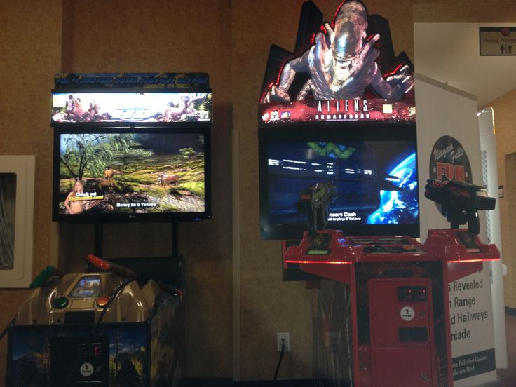 Big Buck Hunter & Aliens have been added to add some more excitement to our property.  Located on the lobby level.