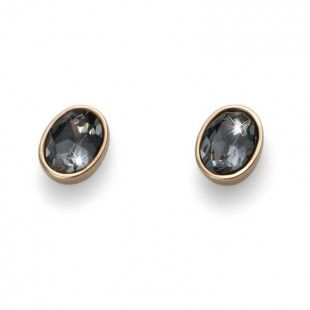 Earring Oval gold silver night #OliverWeber