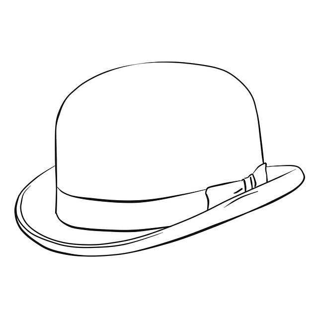 Free Image On Pixabay Hat Coloring Line Monochrome Bw