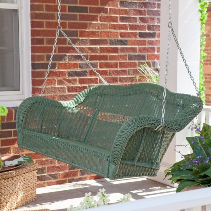 Exterior: Best Patio Swing With Canopy Ethimo Swing Porch Swing Garden Treasures Porch Swing Cane Patio Swing With Square Outdoor Patio Swing And Swing Beds from Sway With Wooden Porch Swings