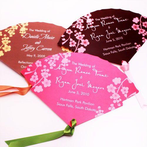 Scalloped Cherry Blossom Program Fans ❀❀ I'∂ яαтнєя ωєαя fℓσωєяѕ ιи му нαιя тнαи ∂ιαмσи∂ѕ αяσυи∂ му иєςк ❀❀- 25 pcs - Palm and Bamboo Hand Fans - Wedding Favors - Wedding Favors & Party Supplies - Favors and Flowers