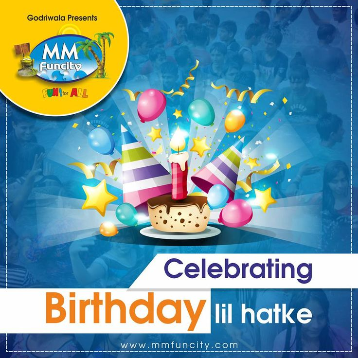Tired of celebrating #birthday at a cafe, cutting #cake & chit-chatting with your friends sitting around a table? Do a lil hatke! Bring your #swimming costume & go mad at #MMFunCity.  #CelebrateBirthday #EnjoyWithFriends #WaterFun M.M Funcity
