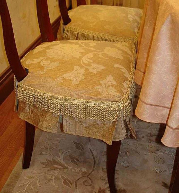 Сшить своими руками накидки для стульев