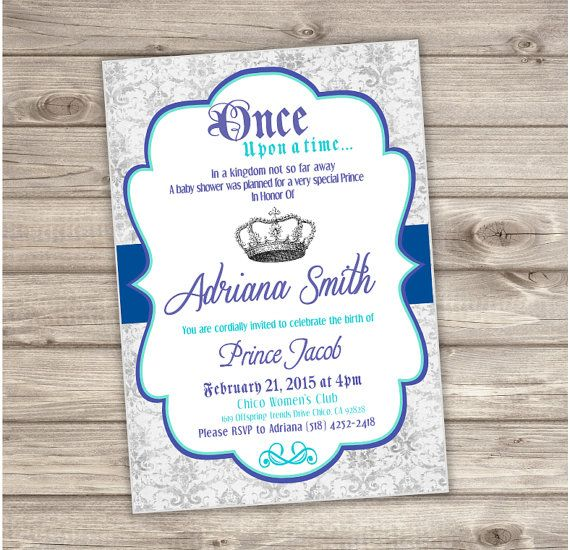 17 Best Baby Shower Invitations Images On Pinterest Crowns