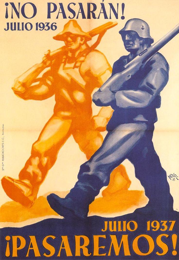 ¡No pasarán! ¡Pasaremos! (They will not pass! We pass!) by Ramon Puyol, 1937. Contributor: Sociedad General de Publicaciones, E.C.