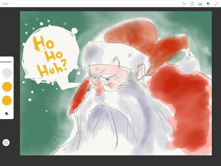 Ho Ho huh? Christmas is over. What's a Klaas to do? Hunt Dragons. That's what. Drawn with Adobe Sketch on iPad Pro using Apple pencil.  #adobesketch #applepencil