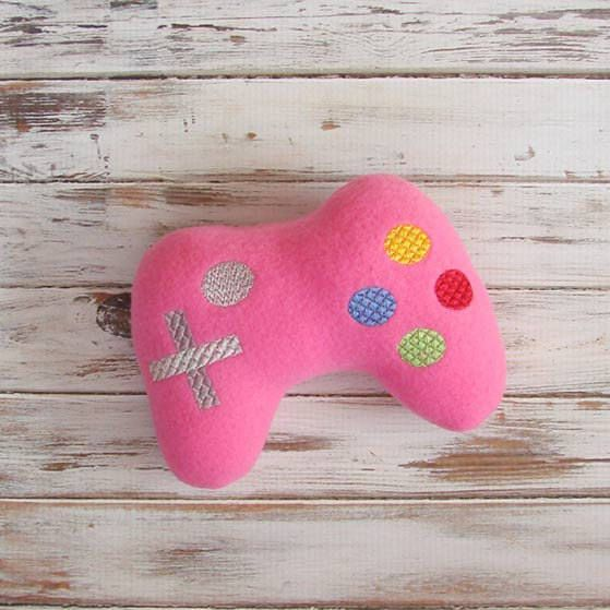 Geeky Baby Gift, Future Gamer, Plush Baby Toy, Game Controller, Pretend Toy