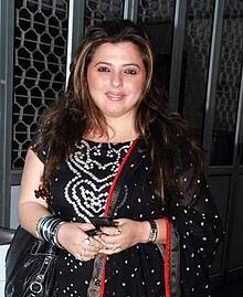 Irani (Zoroastrian) actress Delnaaz Irani (The Irani are Zoroastrians, but culturally, linguistically and socially distinct from the Parsis)