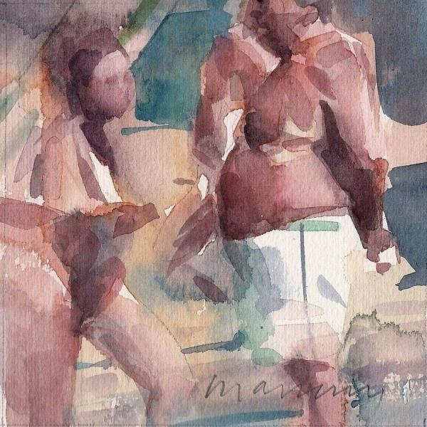 Bagnanti, 2012. watercolours, cm 15x15