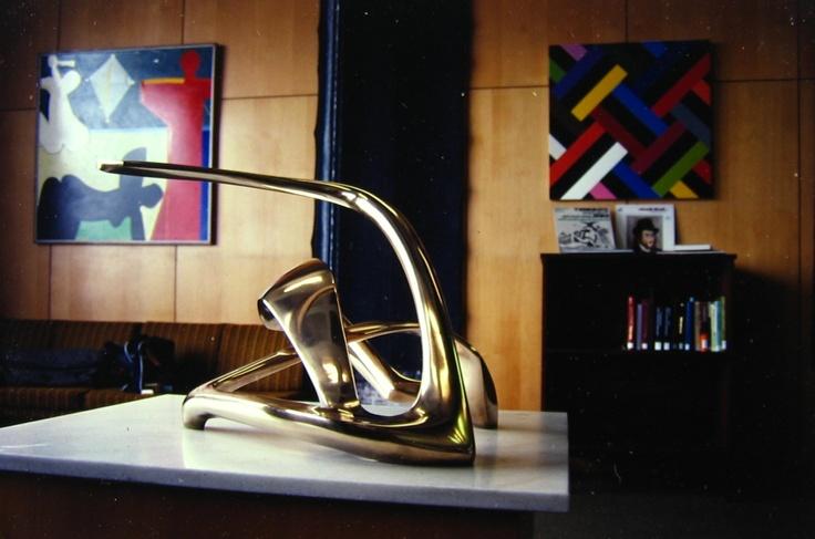 'Seabird IV', 1970, Bronze, Beaglehole Memorial, Victoria University, Wellington, New Zealand