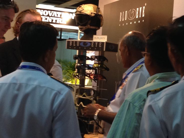DSA Malaysia 2014! Defence personnel enquiring about Blueye Tactical's Military eyewear range #blueyetactical #DSAmalaysia