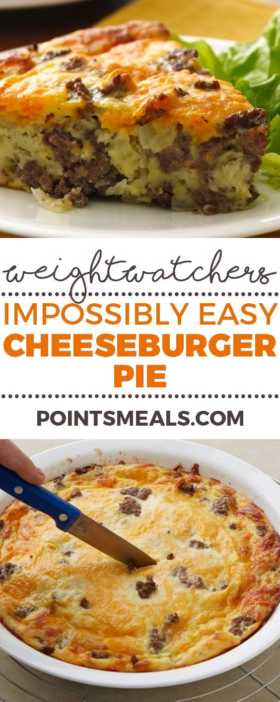 EASY CHEESEBURGER PIE (WEIGHT WATCHERS SMARTPOINTS)