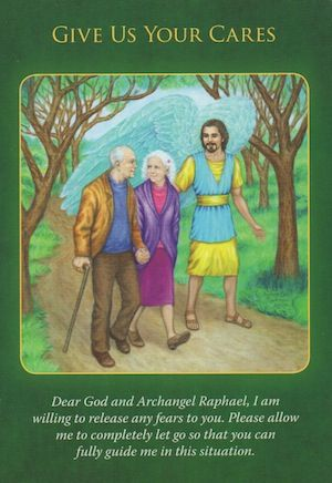 Archangel Raphael is ready to receive and transmute any health-related fears... (click image to keep reading)