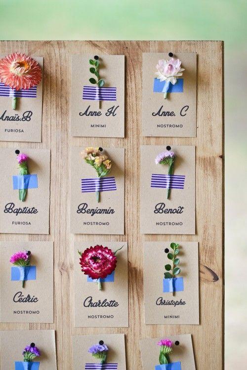 Un #tableau de #mariage ispirato dai nomi dei fiori! Ti piace l'idea? http://goo.gl/Dq5r4I