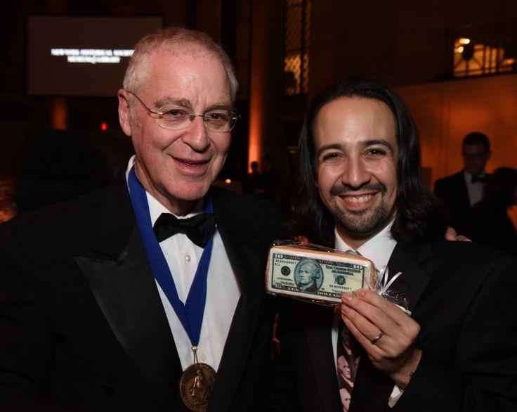 Lin Manuel Miranda and Ron Chernow - a meeting of the ultimate Hamilton fanboys
