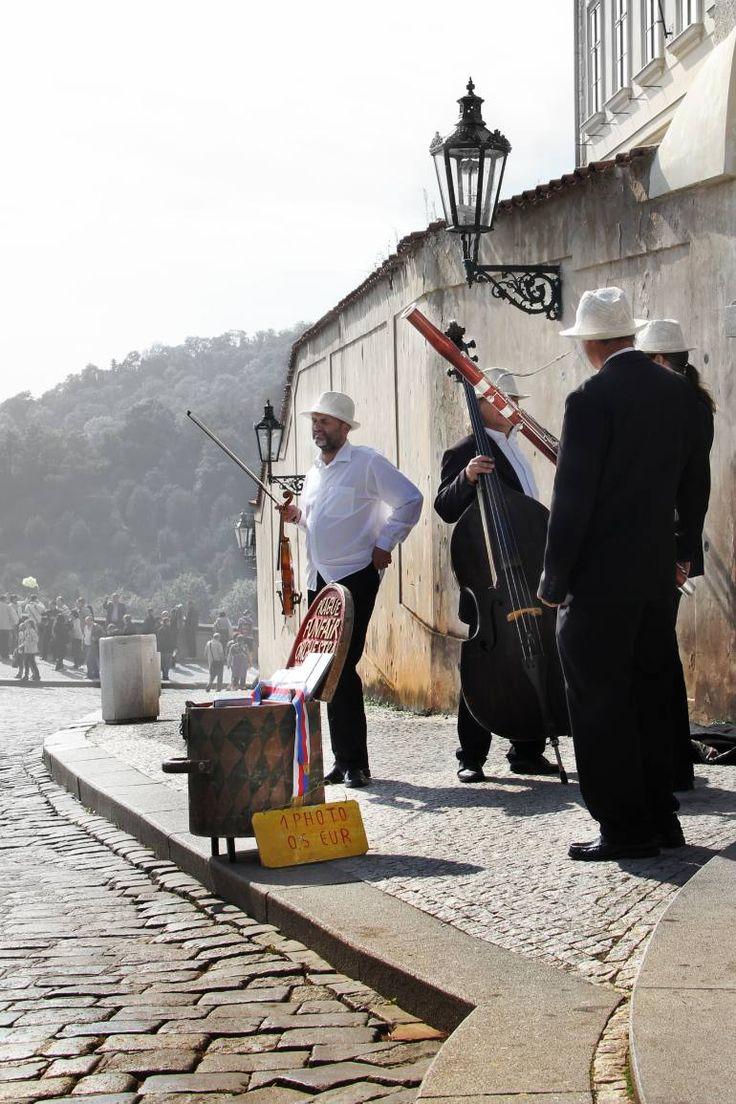 "Saatchi Art Artist Marius Rošu; Photography, ""Four white hats, Street musicians"" #art"