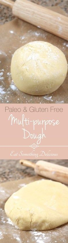 Paleo Multi-purpose Dough | This versatile dough is made with gluten free and paleo ingredients. Use it to make foods like pizza crusts, cinnamon rolls, and dumplings. | eatsomethingdelic...