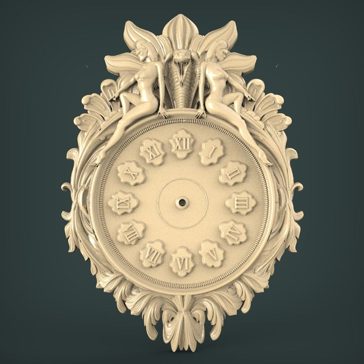 3D STL Model for CNC and 3d Printer Clock (1860) Design
