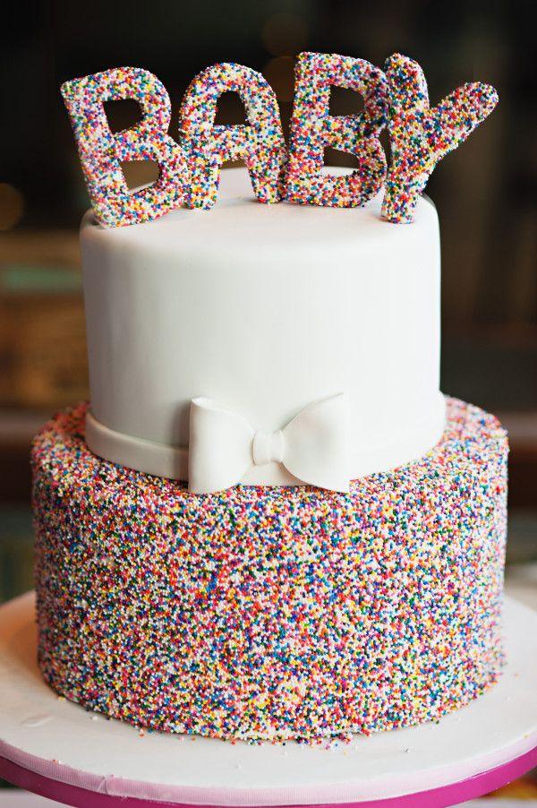 Sprinkle Baby Shower Cake, 10 Baby Shower Cakes