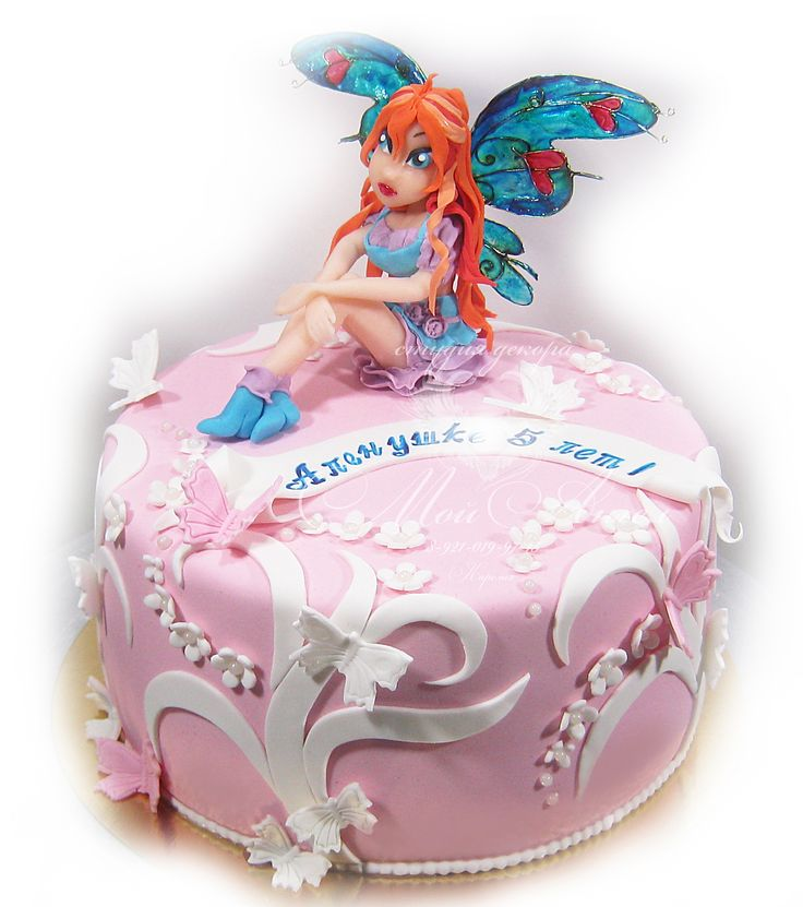 Cake WinX, Fairy Bloom. Торт Винкс, фея Блум.