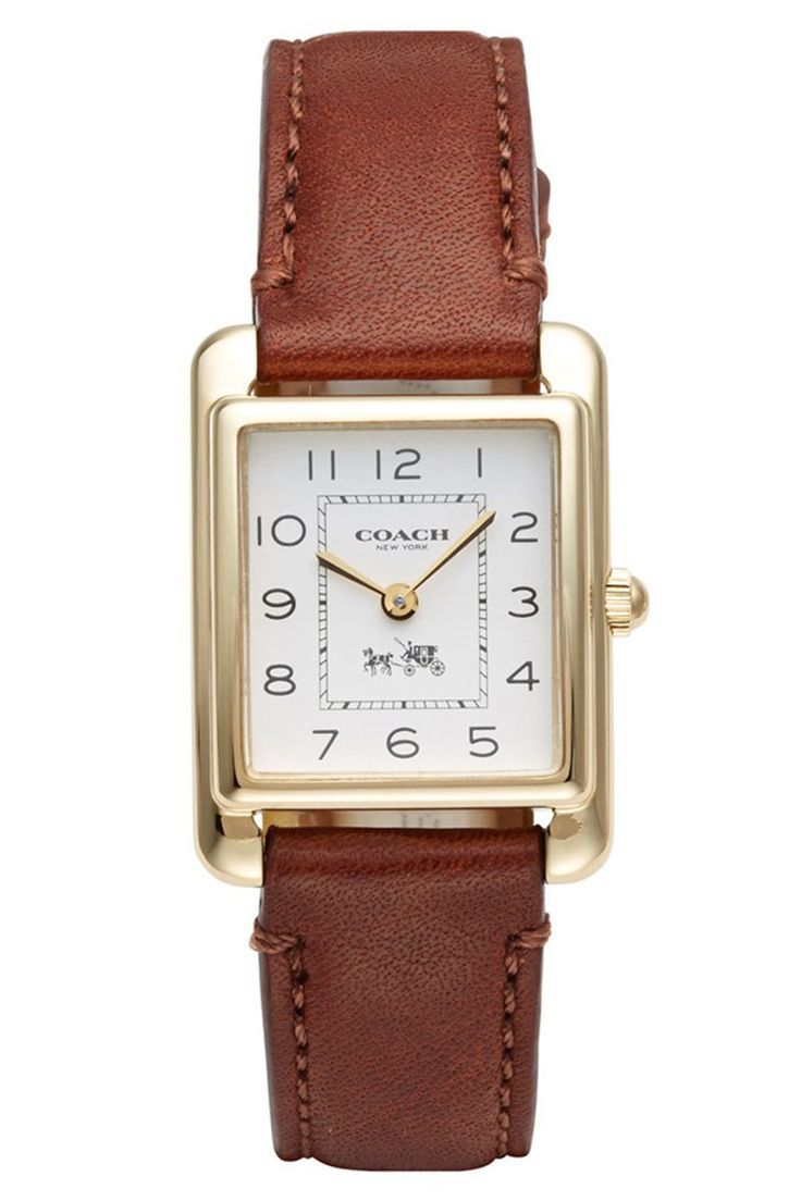 Looooooove this. Coach watch, $198, coach.com.   - HarpersBAZAAR.com