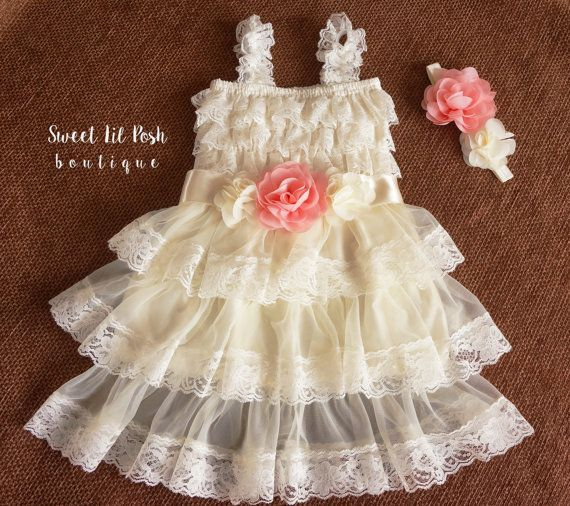 Flower Girl Dress avorio vestito ragazza di fiore di SweetLilPosh